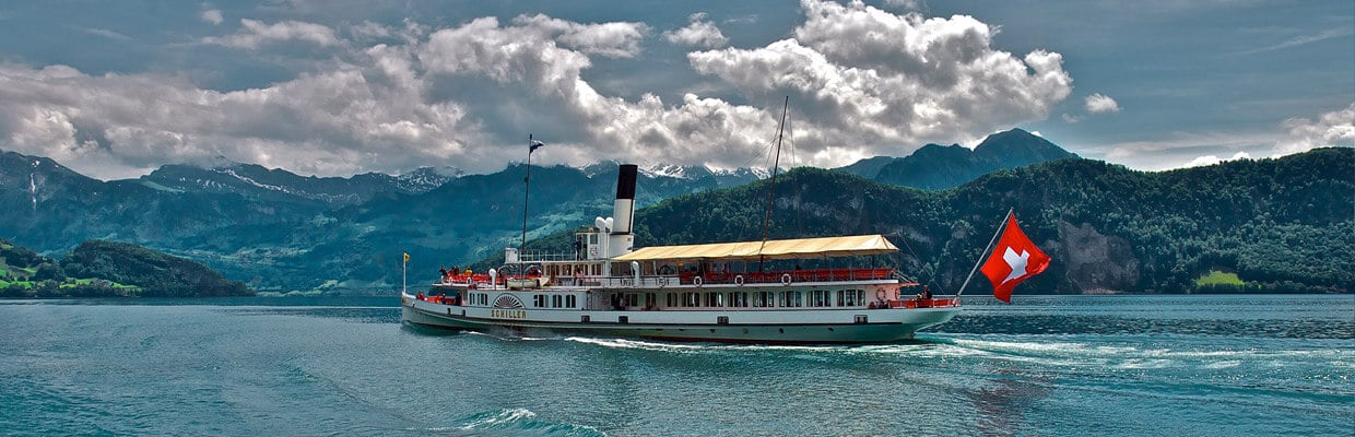 Clyde Steamer Boat in Switzerland | ETIAS Schengen Countries