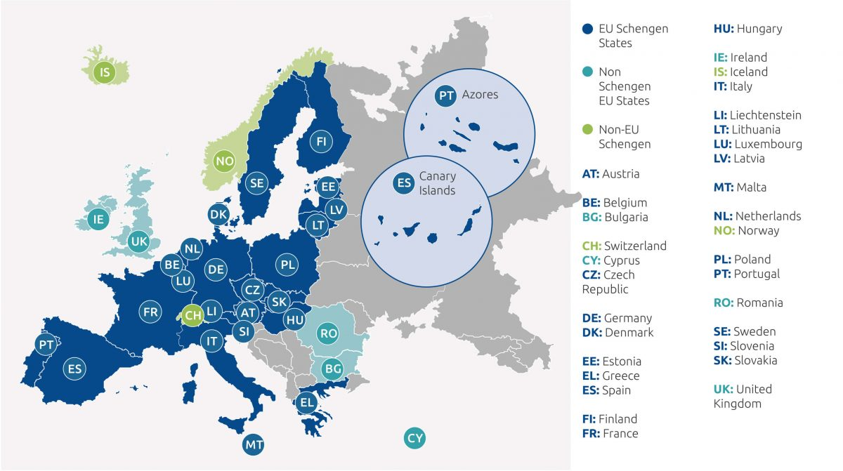 ETIAS Europe Map